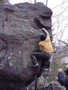 Rock Climbing Photo: Dobbe nearing the finish.