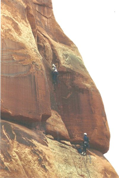 Rock Climbing Photo: Ross and Gardener starting pitch 2 on the first at...