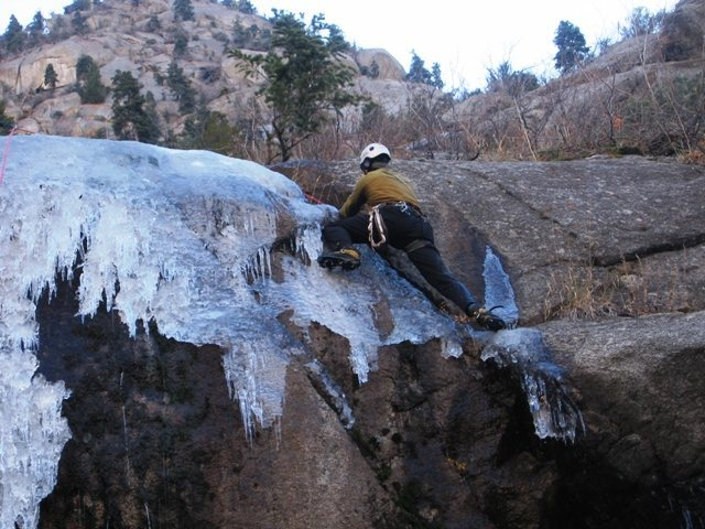 "Right side of p1 of Hanging Slab Gully is ""doable"" in thin conditions..."