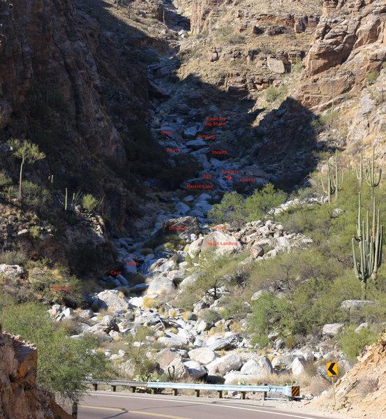 Rock Climbing Routes Amp Photos In Hairpin Boulders Mount