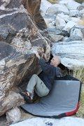 Rock Climbing Photo: Sit start.