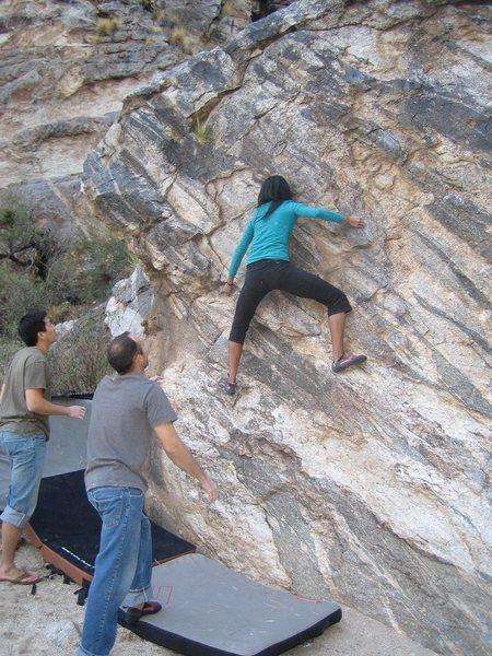 Rock Climbing Photo: Rad doing her thing.