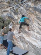 Rock Climbing Photo: Rad doing her thing.