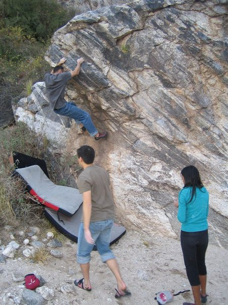 Rock Climbing Photo: Starting the roof.