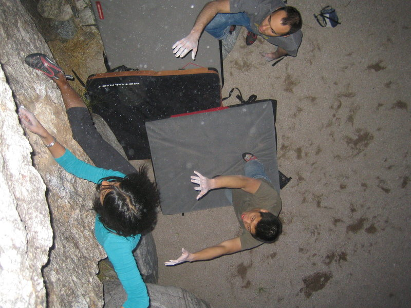 Rock Climbing Photo: The dyno.