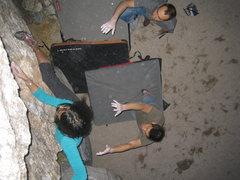 Rock Climbing Photo: The dyno.