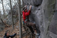 Rock Climbing Photo: Chris sending.
