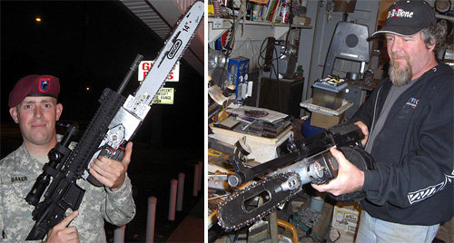 Chainsaw bayonets
