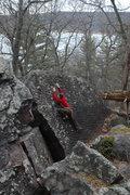 Rock Climbing Photo: Chris on Trust Fund.
