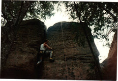Rock Climbing Photo: Castlewood 1987