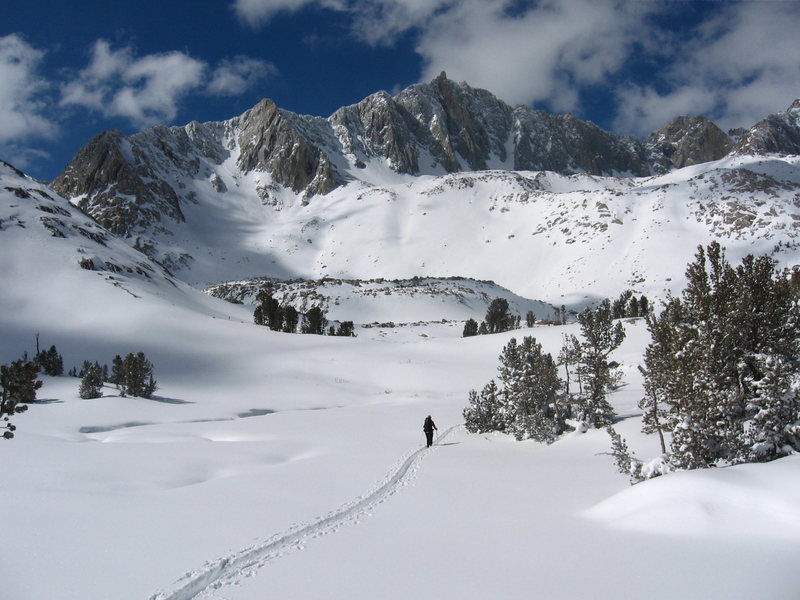 Ski tour under Mt. Goode, Sierra Nevada
