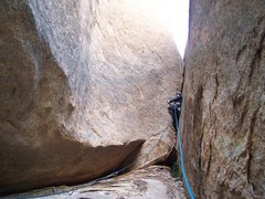 "Rock Climbing Photo: Me heading up the ""crux"" pitch. Proud on..."
