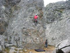 Rock Climbing Photo: Floyd Hayes leading Osprey 5.10a. Photo by Nick Mi...