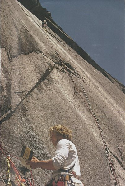 First ascent of The Ghost. July 1971