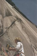 Rock Climbing Photo: First ascent of The Ghost. July 1971
