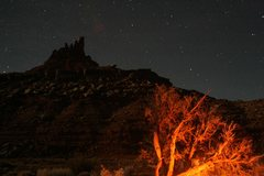 Rock Climbing Photo: North Six Shooter at night