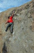 Rock Climbing Photo: John Porensky fishing for holds on 'Sheepherder'