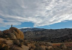 Rock Climbing Photo: Top-out at Buttermilks Main