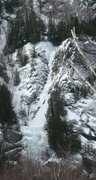 Rock Climbing Photo: Crystal Ice Tower at the bottom. White Line Fever ...