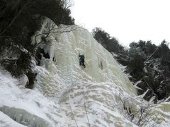"Rock Climbing Photo: Starting up the steep left side of the ""pilla..."