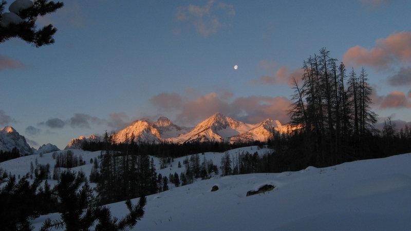 Rock Climbing Photo: Snow camping has its perks... Sawtooth Mtns.
