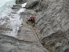 Rock Climbing Photo: Nearing the crux before heading up and left to the...