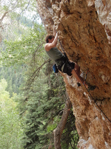 Rock Climbing Photo: Right Pile, Big Cottonwood Canyon, summer 2008.