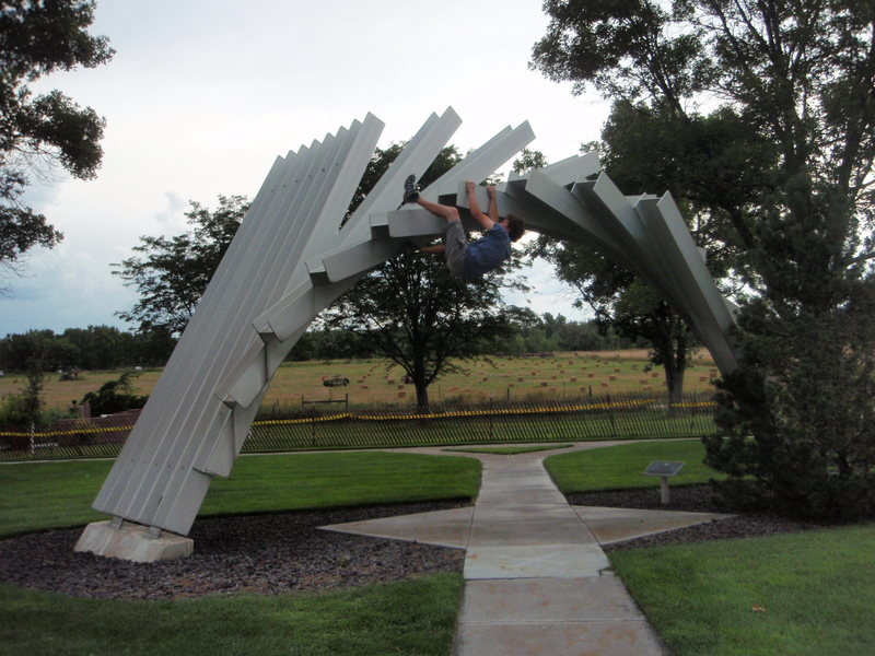 Rock Climbing Photo: Up/Over, Ogalla Rest Area, Nebraska.