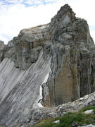 Rock Climbing Photo: Black ice made this section between Teewinot and O...
