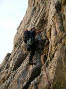 Rock Climbing Photo: Yours truly climbing out of gunsight notch towards...