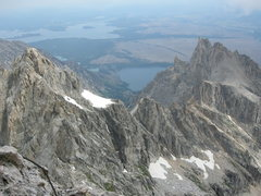 Rock Climbing Photo: Looking at our progress thus far. The ridge betwee...