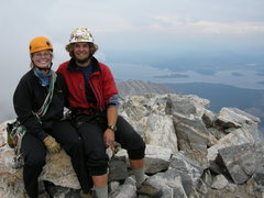 Rock Climbing Photo: Lindsay and I on the summit of the Grand. With the...
