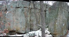 Rock Climbing Photo: Backbone West, Battle of the Bulge to Sandstone Vi...
