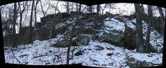 Rock Climbing Photo: East side of Backbone Ridge.