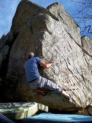 """Rock Climbing Photo: Aaron Parlier on """"Maxima"""" (V-5/6) Maxima..."""
