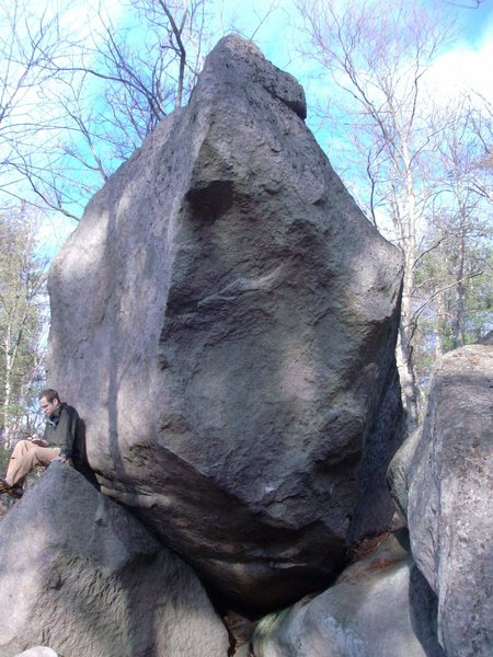 Rock Climbing Photo: This thing is BIG! Windchill starts on the right s...