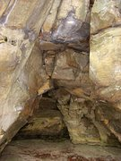 Rock Climbing Photo: Back of the cave.  With some cleaning a roof proje...