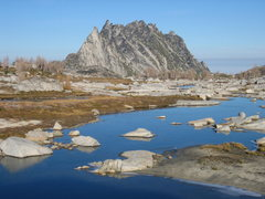 Rock Climbing Photo: Prusik Peak and Mt. Temple Ridge from the upper En...