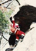 Rock Climbing Photo: the reach over..