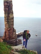 Rock Climbing Photo:  The Old Man of Hoy and Andy Ross