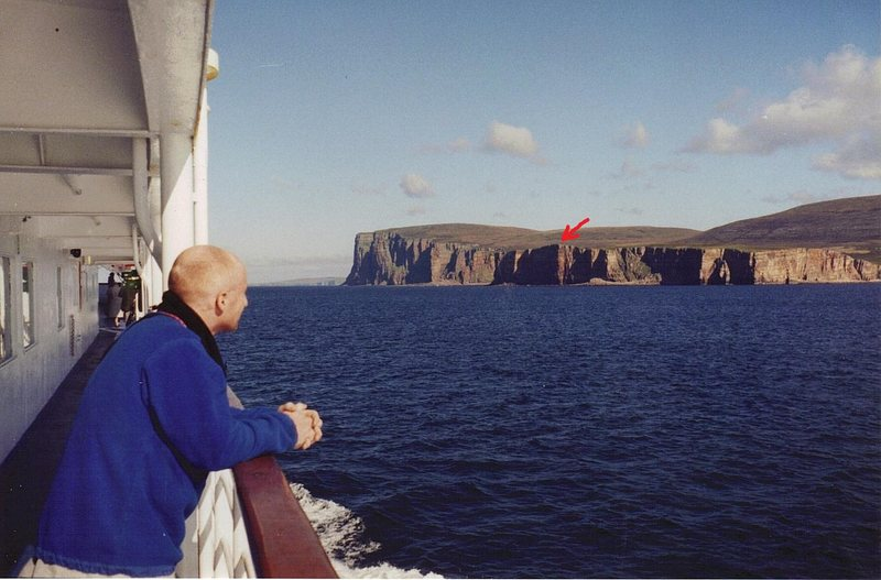 Rock Climbing Photo: Passing the small Island of Hoy on route to the ma...