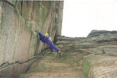 Rock Climbing Photo: Paul starting up the last pitch