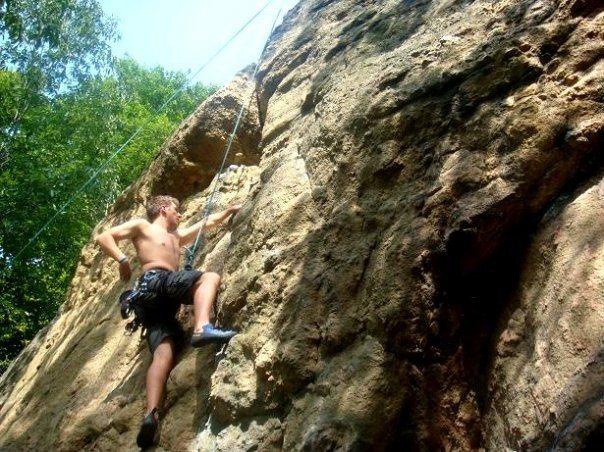 Blue Rose 5.8+ classic climb at Illchester