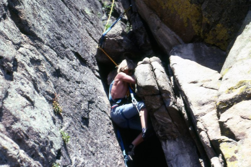Age 15. The first route Chuck and I did at Ocelot.