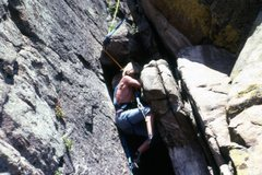 Rock Climbing Photo: Age 15. The first route Chuck and I did at Ocelot....