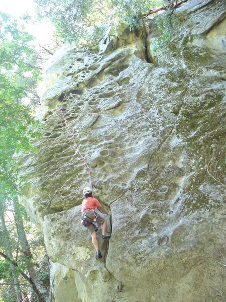 Rock Climbing Photo: Myself following Hair Dresser. Ben is up top belay...