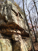 Rock Climbing Photo: Photo edited with Betacreator to show bolts and li...
