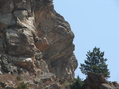 Rock Climbing Photo: Another view of my project from top of approach tr...