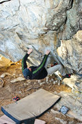 Rock Climbing Photo: Shannon enjoying the cheat