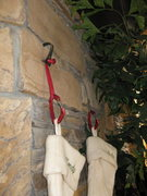 Rock Climbing Photo: Hook and nut for stockings....